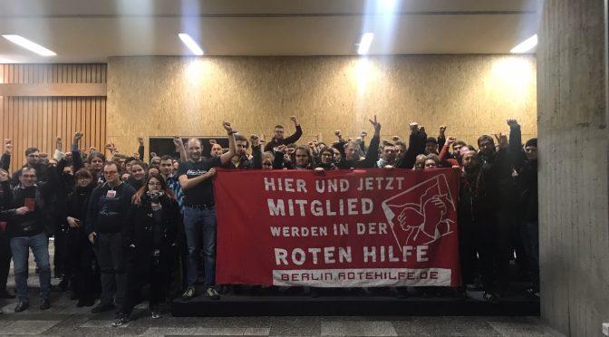 Geschichte wird gemacht: SDS Kongress solidarisch mit Roter Hilfe e.V.